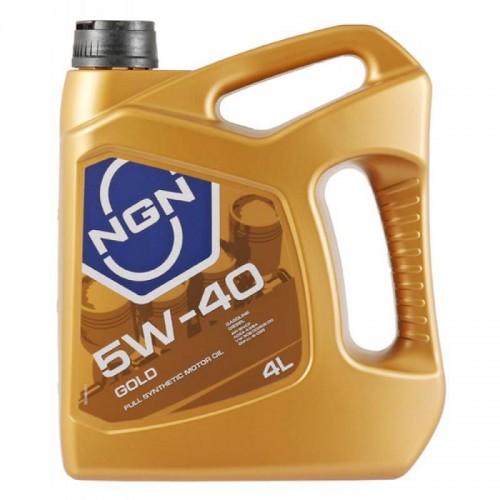 Моторное масло NGN GOLD 5W40, 4 литра, синтетическое
