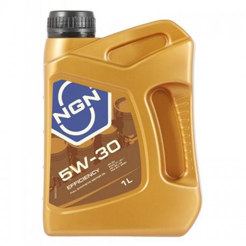 Моторное масло NGN EFFICIENCY 5W30, 1 литр, синтетическое