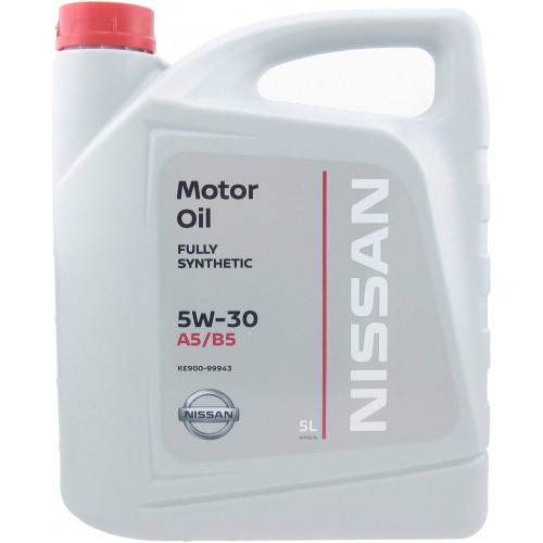 Моторное масло Моторное масло NISSAN 5W30 FS A5/B5, 5 литров, синтетическое