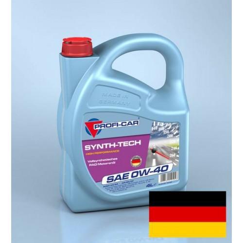 Моторное масло PROFI-CAR 0W40 Synth-Tech 4000, 4 литра,