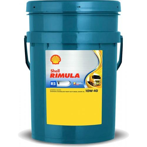 Моторное масло SHELL Rimula R5 E 10W40, 20 литров, полусинтетическое