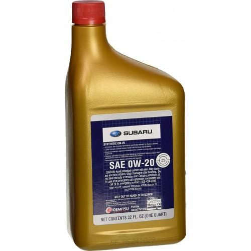 SUBARU SYNTHETIC OIL 0W20, 0.946 литра