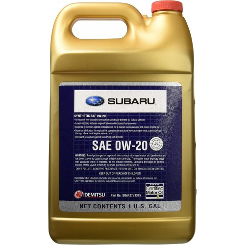 SUBARU SYNTHETIC OIL 0W20, 3.78 литра