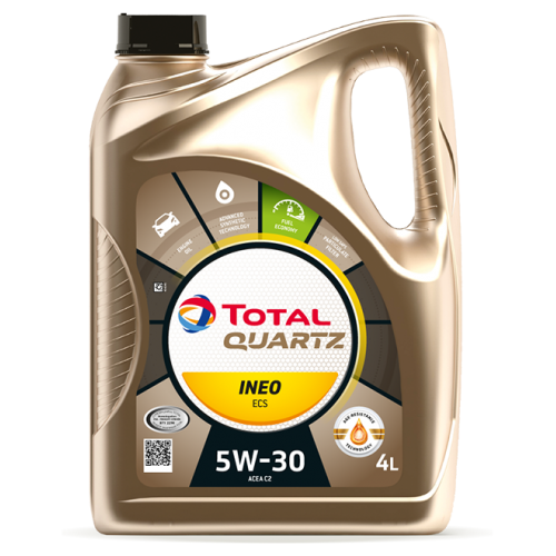 Моторное масло TOTAL QUARTZ INEO ECS 5W30, 4 литра,