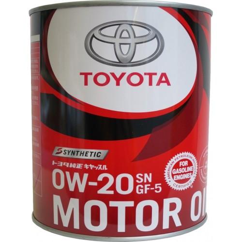 TOYOTA Motor Oil SN/GF-5 0W20, 1 литр