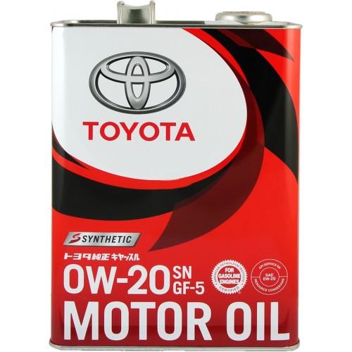 Моторное масло TOYOTA 0W20, 4 литра, синтетическое