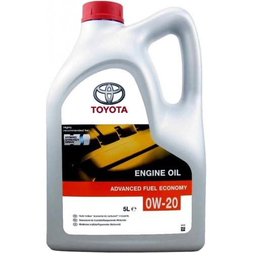 Моторное масло TOYOTA 0W20, 5 литров, синтетическое