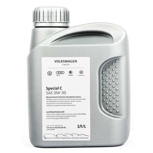 Моторное масло VAG Special C 0W30, 1 литр, синтетическое