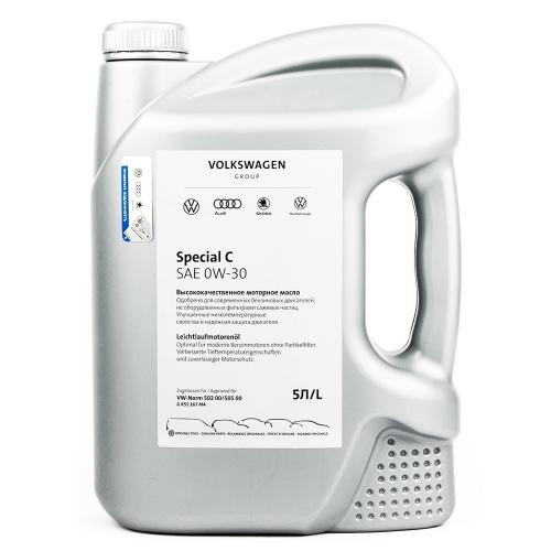 Моторное масло VAG Special C 0W30, 5 литров, синтетическое