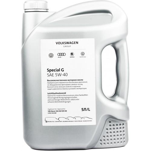Моторное масло VAG SPECIAL G 5W40, 5 литров, синтетическое