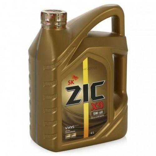 Моторное масло ZIC X9 5W40, 4 литра,