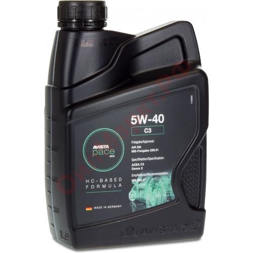 Моторное масло AVISTA pace EVO C3 SAE 5W40, 1 литр, синтетическое