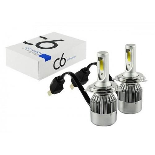 Светодиодные лампы в фары H4 C6