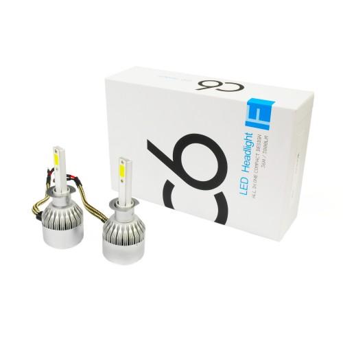 Светодиодные лампы в фары H1 C6